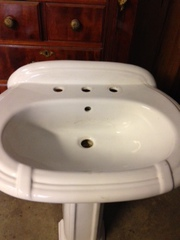 Pedestal sink,  new. $75 - 27W x 20-1/2D,       ........................
